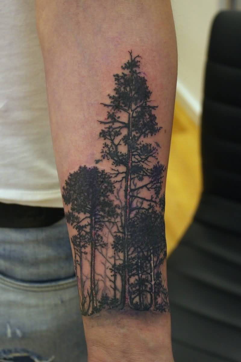 forearm forest tattoo designs ideas and meaning tattoos. Black Bedroom Furniture Sets. Home Design Ideas