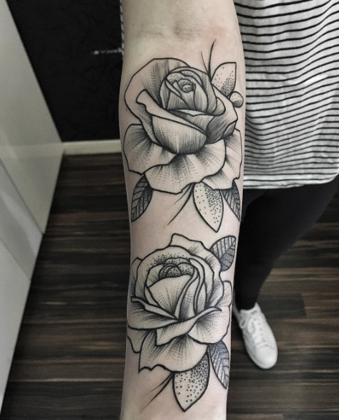 Rose Forearm Tattoo Designs, Ideas and Meaning   Tattoos For You