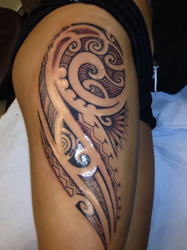 thigh tattoos side designs meaning