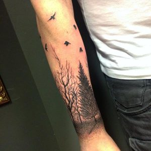 Forearm tree tattoo designs ideas and meaning tattoos for Birch tree tattoo meaning