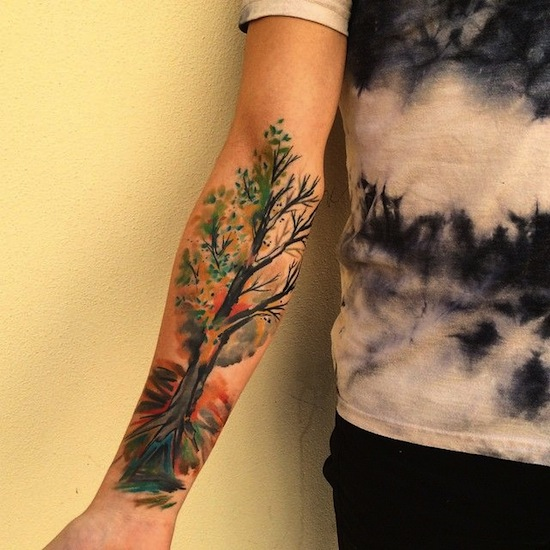 forearm tree tattoo designs ideas and meaning tattoos