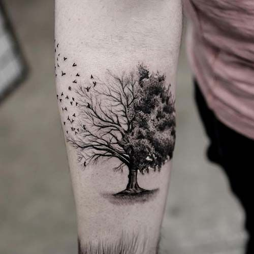 Forearm Tree Tattoo Designs, Ideas and Meaning | Tattoos ...