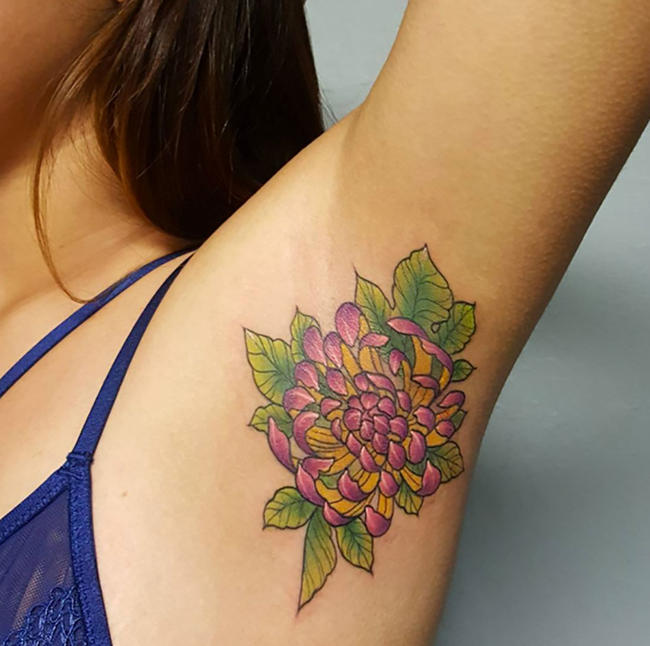 Armpit Tattoo Designs, Ideas And Meaning