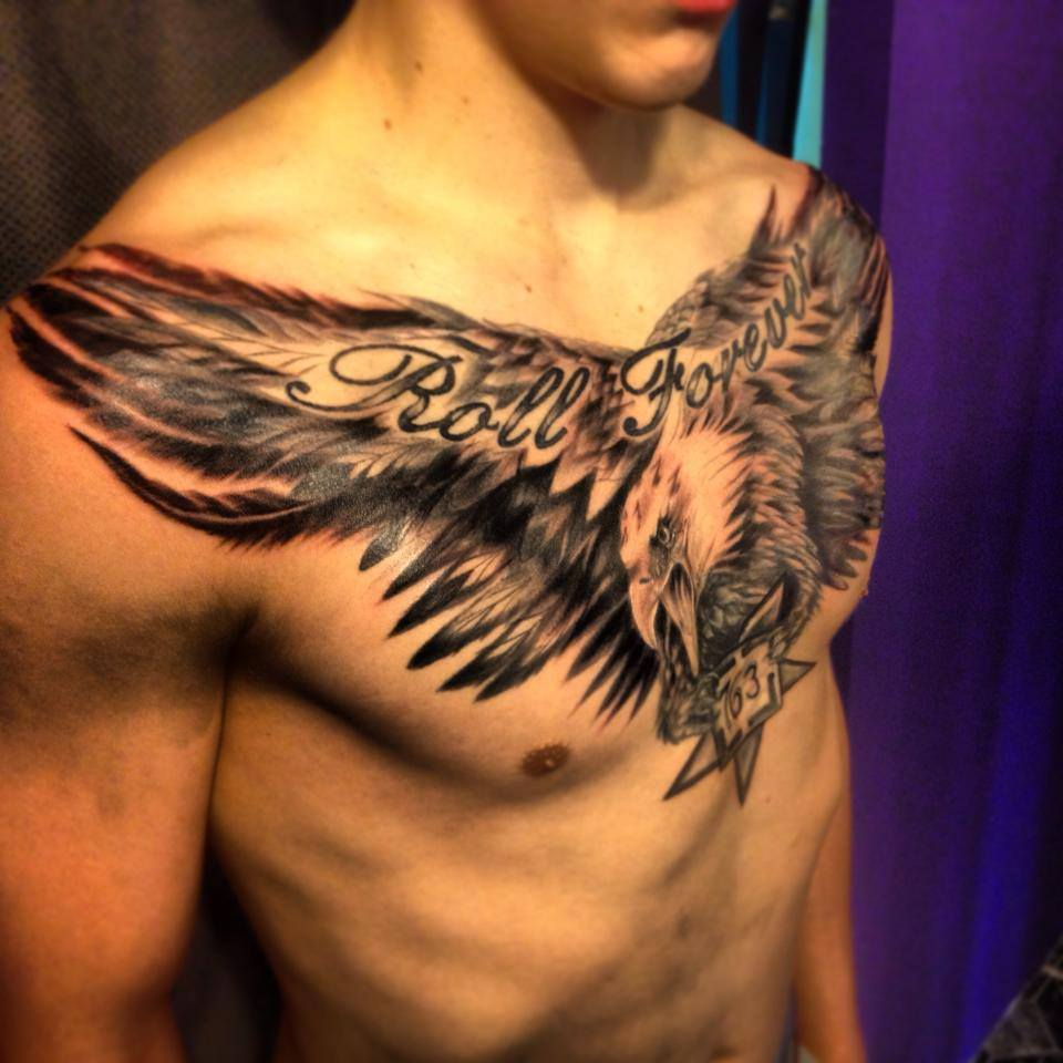 eagle chest tattoo designs ideas and meaning tattoos for you. Black Bedroom Furniture Sets. Home Design Ideas