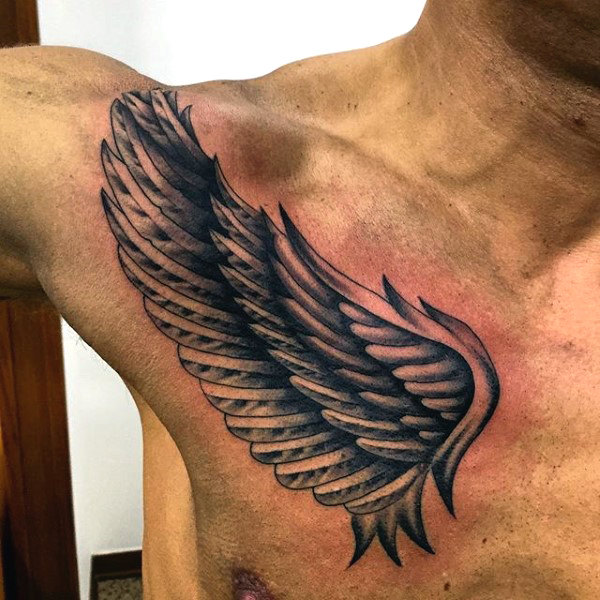 40 Wing Chest Tattoo Designs For Men: Wing Tattoos On Chest Designs, Ideas And Meaning