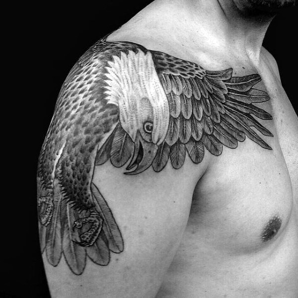 Eagle Shoulder Tattoo Designs, Ideas and Meaning | Tattoos ...