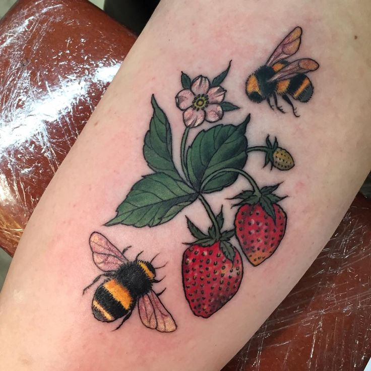 0cd891609b444 Strawberry Tattoo Designs, Ideas and Meaning | Tattoos For You
