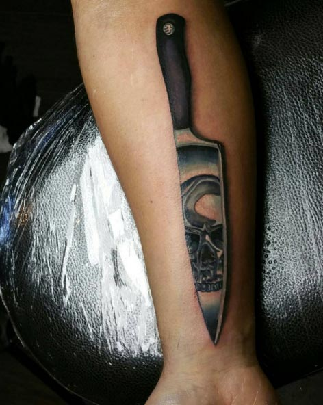 Knife Tattoo Designs Ideas And Meaning Tattoos For You