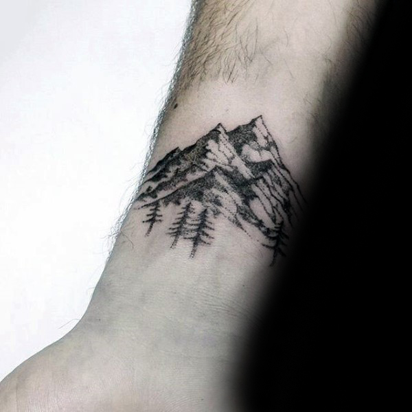 Mountain wrist tattoo designs ideas and meaning tattoos for Mountain man tattoo