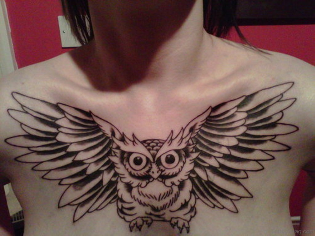 Owl Chest Tattoo Designs Ideas And Meaning Tattoos For You