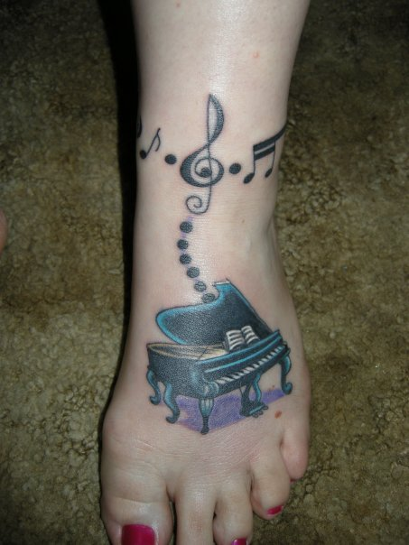 Simple Key Tattoo