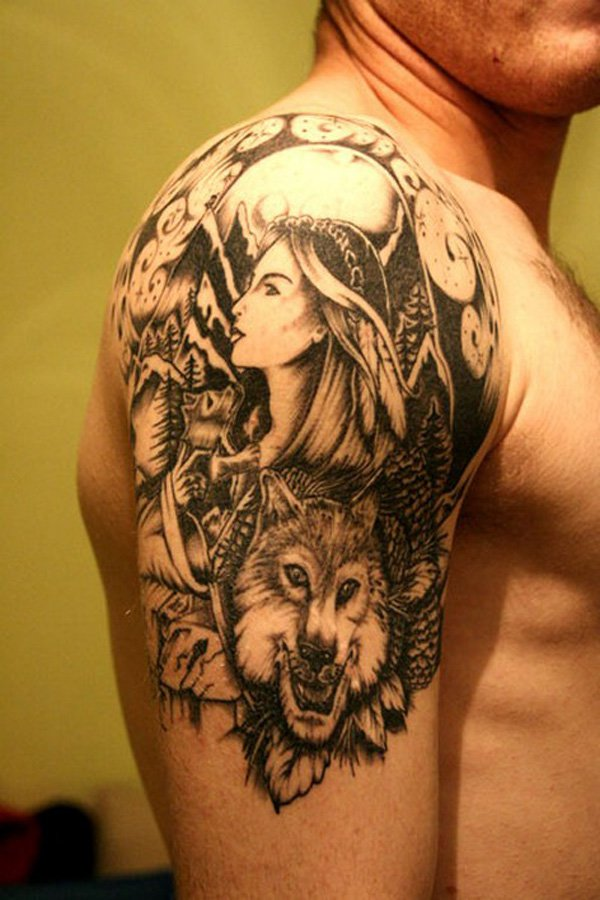 Quarter Tattoo Sleeve: Quarter Sleeve Tattoo Designs, Ideas And Meaning