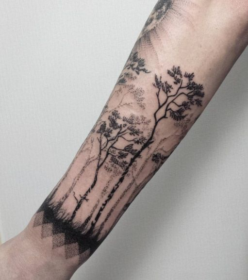 Tree Sleeve Tattoo Designs, Ideas And Meaning