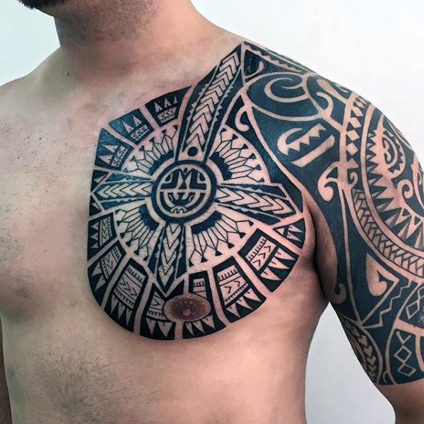 Tribal Chest Tattoos Designs, Ideas And Meaning