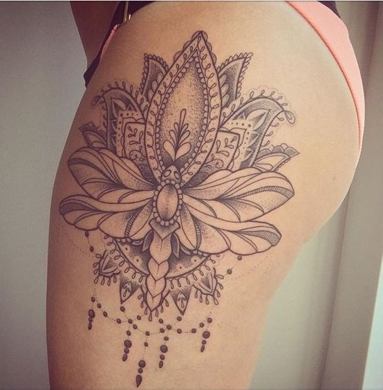 Upper thigh tattoos designs ideas and meaning tattoos for Getting thigh tattoo