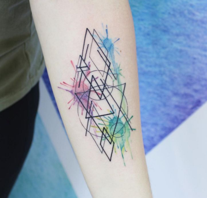 Watercolor Tattoos Abstract Watercolor And: Geometric Tattoos Designs, Ideas And Meaning