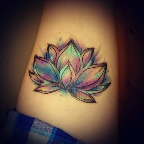 Tattooz Designs Back Tattoos: Watercolor Lotus Tattoo Designs, Ideas And Meaning