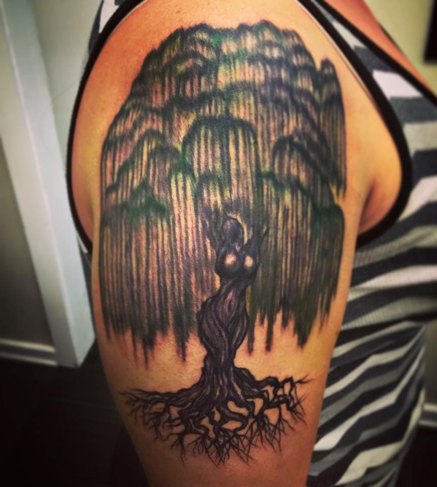 Weeping Willow Tattoo Designs Ideas And Meaning Tattoos For You