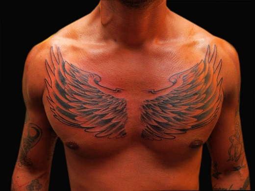 Wing Chest Tattoo Drawings Www Picswe Com