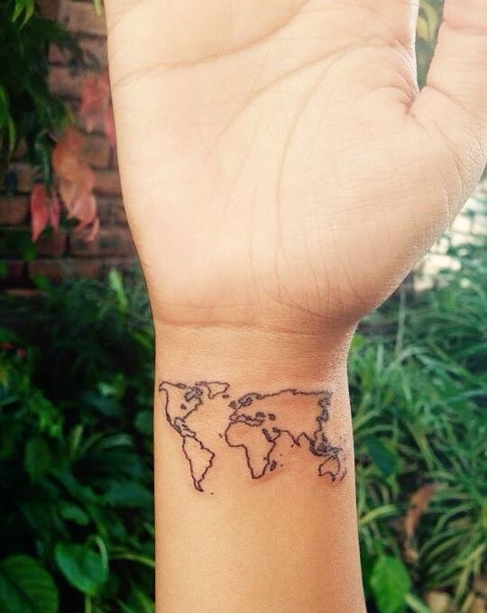World Map Tattoo Designs Ideas And Meaning Tattoos For You