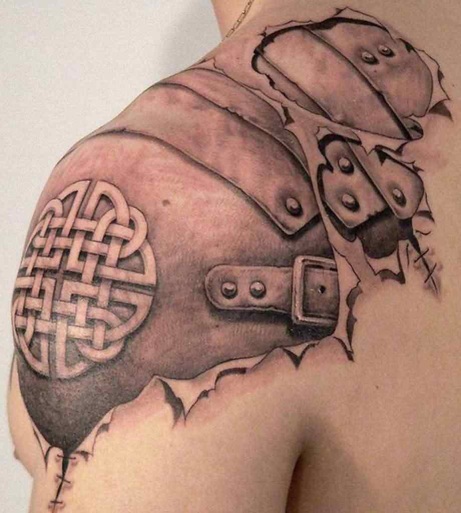 55c591384 Shoulder Armor Tattoo Designs, Ideas and Meaning   Tattoos For You