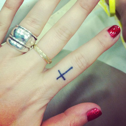 Cross Tattoo On Finger Designs Ideas And Meaning Tattoos For You