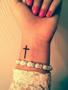 fc693dc57 Cross Tattoos on Wrist Designs, Ideas and Meaning | Tattoos For You