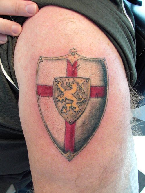Shield Tattoo Designs, Ideas and Meaning | Tattoos For You | 500 x 667 jpeg 60kB