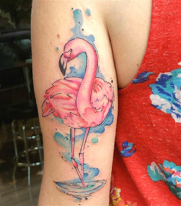 flamingo tattoos designs ideas and meaning tattoos for you. Black Bedroom Furniture Sets. Home Design Ideas