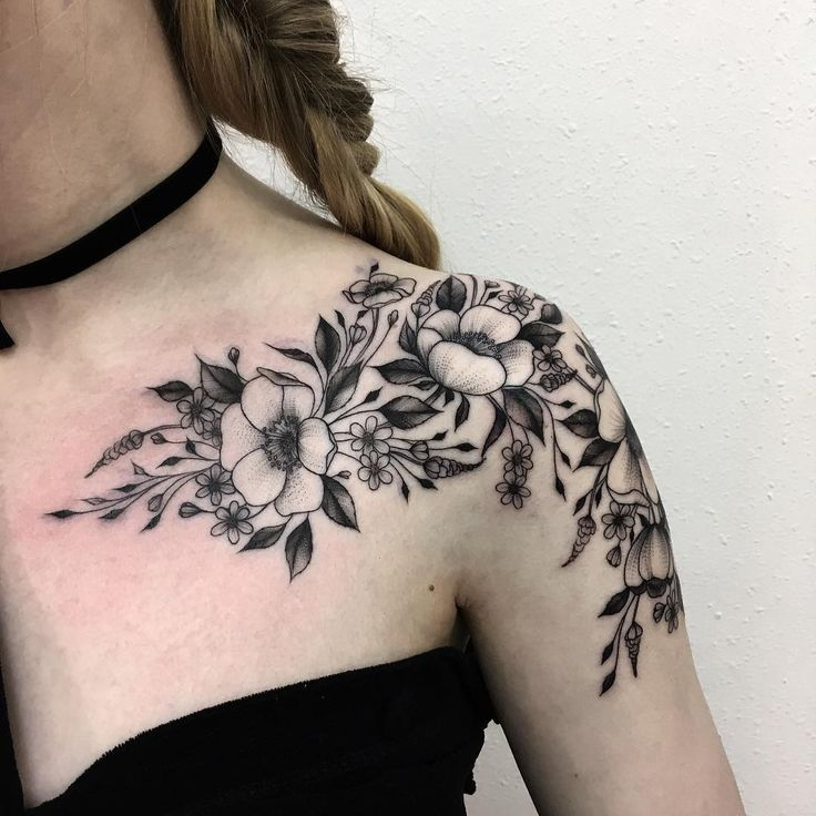 Flower tattoos on shoulder tumblr