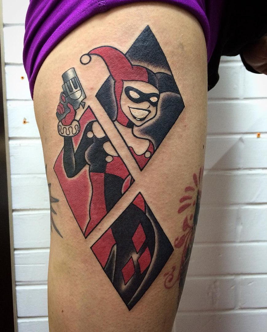 Matching Joker And Harley Tattoo: Harley Quinn Tattoo Designs, Ideas And Meaning