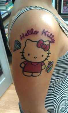 bce7441a55562 Hello Kitty Tattoos Designs, Ideas and Meaning | Tattoos For You