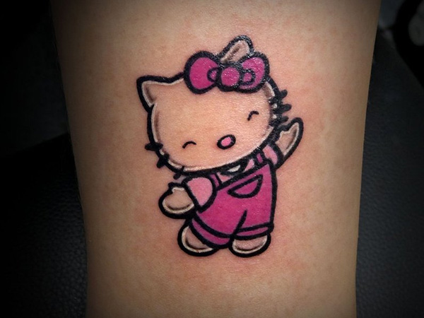 hello kitty tattoos designs ideas and meaning tattoos for you. Black Bedroom Furniture Sets. Home Design Ideas