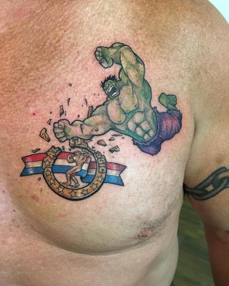 Hulk Chest Tattoo. Hulk Tattoo Designs