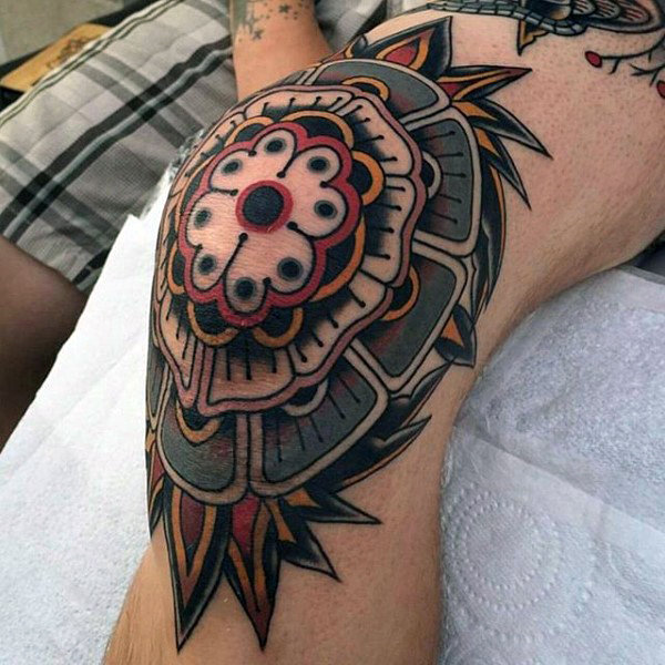 Knee tattoos designs ideas and meaning tattoos for you for Knee tattoo ideas