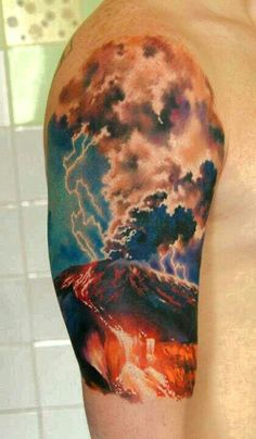 Lightning Sleeve Tattoo Designs