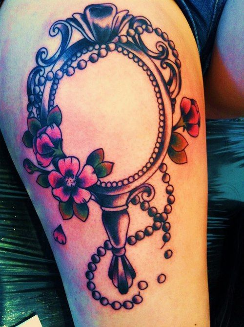 Mirror tattoo designs ideas and meaning tattoos for you for Shattered glass tattoo