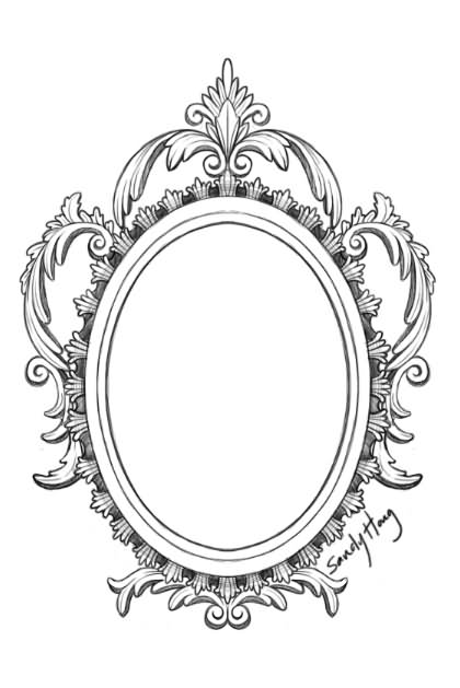 Ornate hand mirror drawing Antique Sterling Silver Mirror Tattoo Drawing Tattoos For You Mirror Tattoo Designs Ideas And Meaning Tattoos For You