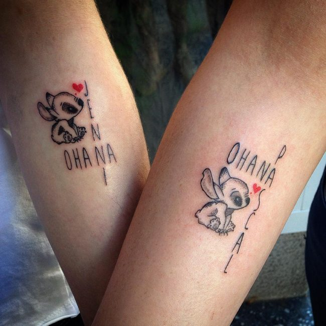 Friendship Tattoos Designs Ideas And Meaning: Ohana Tattoo Designs, Ideas And Meaning