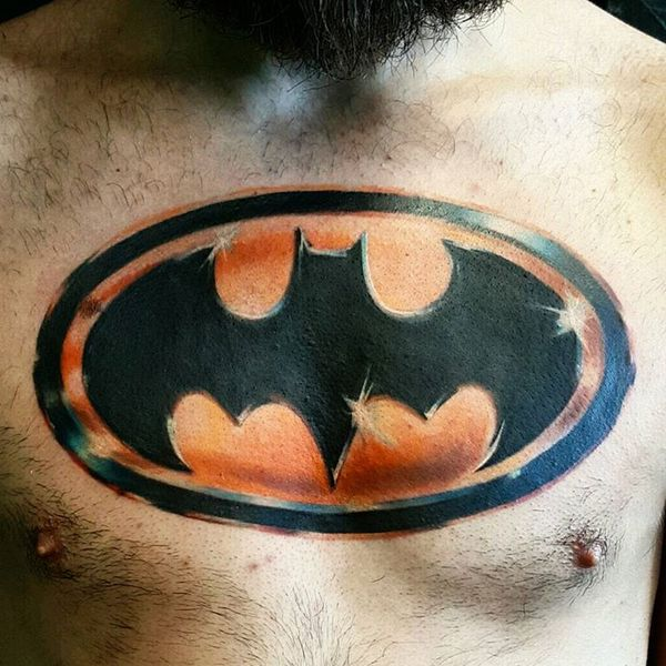Batman symbol tattoo designs ideas and meaning tattoos for Batman logo tattoo
