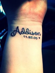 Birthdate Tattoos Designs, Ideas and Meaning | Tattoos For You