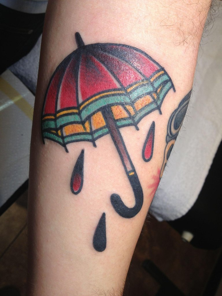 umbrella tattoo designs ideas and meaning tattoos for you. Black Bedroom Furniture Sets. Home Design Ideas