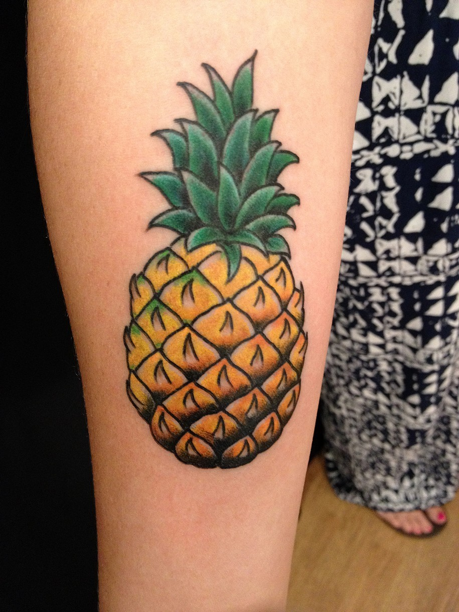 Pineapple Tattoo Designs Ideas And Meaning Tattoos For You