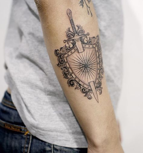 Shield Tattoo Designs Ideas And Meaning Tattoos For You