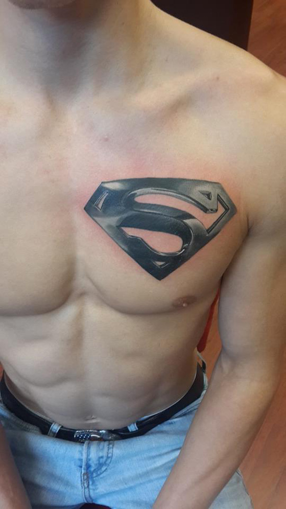 superman chest tattoo designs ideas and meaning tattoos for you. Black Bedroom Furniture Sets. Home Design Ideas