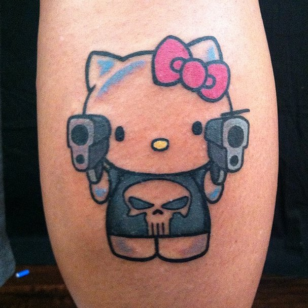 Hello kitty tattoos designs ideas and meaning tattoos for Hello kitty tattoo sleeve