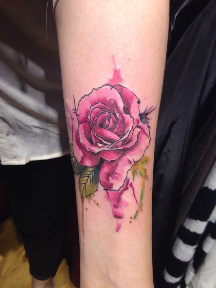 Watercolor Rose Tattoo Designs, Ideas and Meaning ...