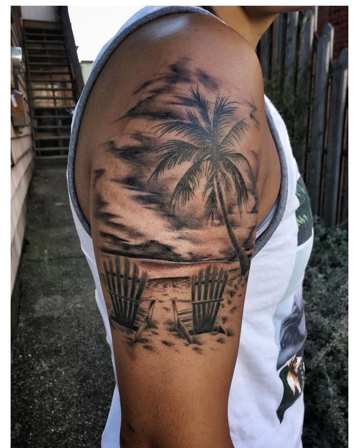 Beach sleeve tattoo designs ideas and meaning tattoos for Tropical themed tattoos