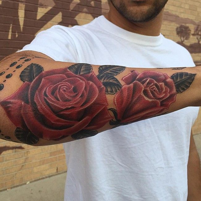 Men S Floral Tattoo
