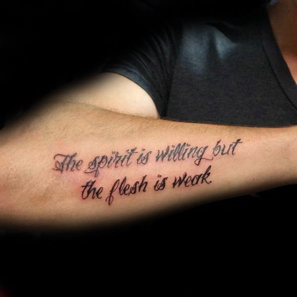 Elegant Life Tattoo Quotes On Forearm: Forearm Quote Tattoos Designs, Ideas And Meaning